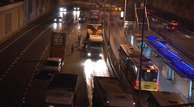 Edirnekapı metrobüs durağı 19 Ekim'e kadar kapalı