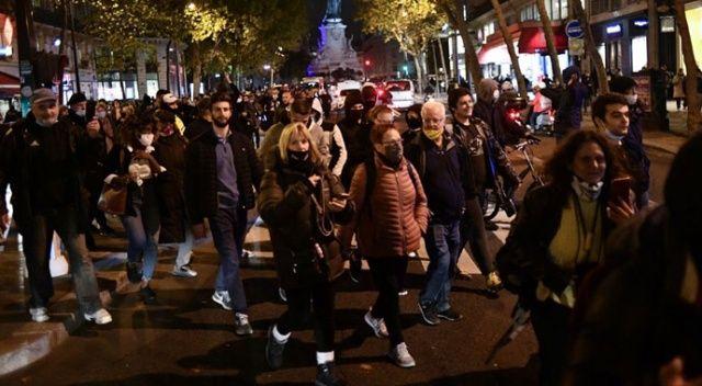 Fransa'da karantina protestosu! Olaylar çıktı