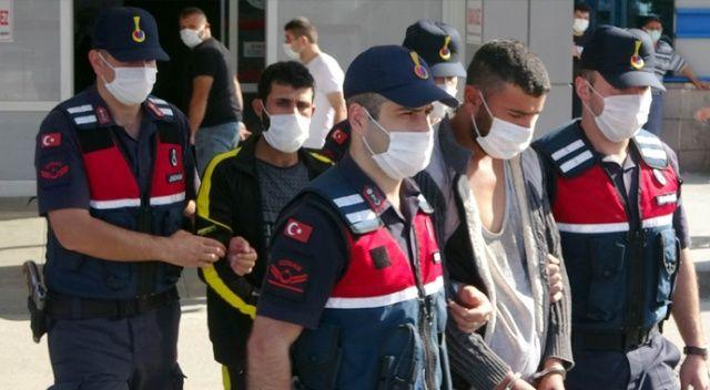 HTŞ terör örgütü şüphelisi 4 yabancı adliyeye sevk edildi
