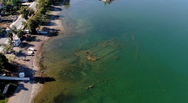 İznik Gölü çekilince 1500 yıllık bazilika ortaya çıktı