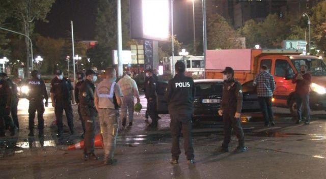 Kızılay'da otomobil sürücüsü ortalığı birbirine kattı: 3 yaralı