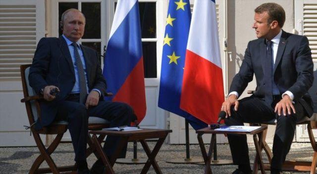 Macron ve Putin arasında kritik görüşme