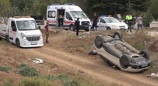 Mezarlık ziyaretinde talihsiz kaza: 1 yaralı