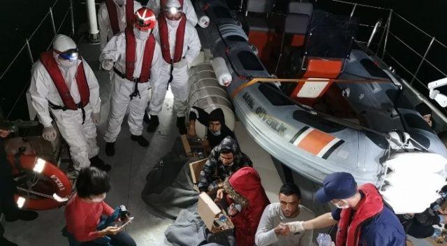 Muğla'da Türk kara sularına itilen 21 sığınmacı kurtarıldı