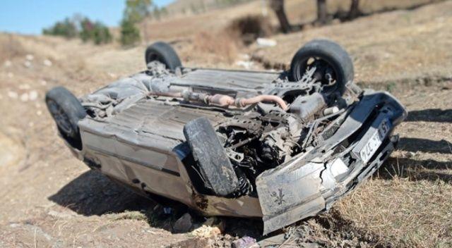 Otomobil takla attı, sürücünün burnu dahi kanamadı