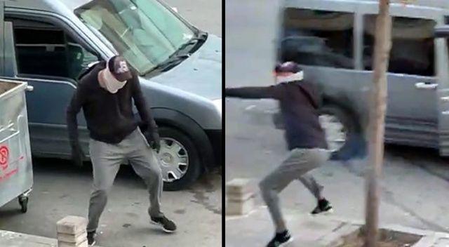 Pişkin hırsızlar, kendisini uyaran vatandaşları taşladı!