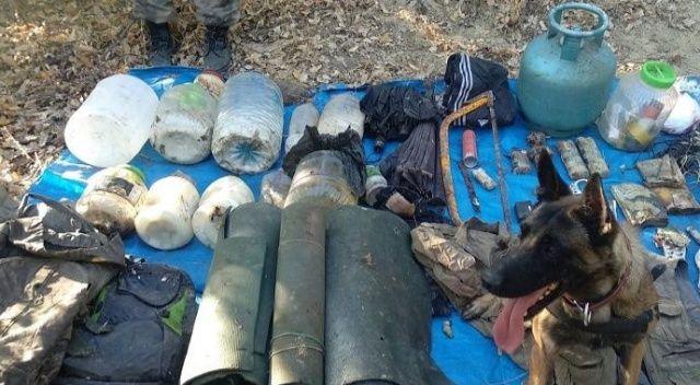 Tunceli'de 2 sığınak imha edildi, EYP malzemeleri ele geçirildi