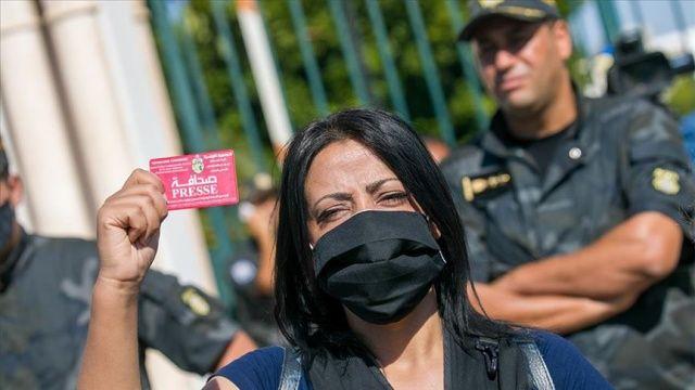 Tunus'ta medyada yeni düzenlemeler içeren yasa tasarısı protesto edildi