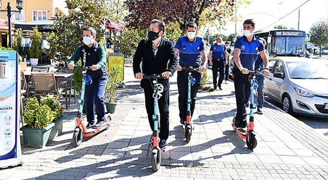 """Tuzla'da """"scooter""""lı zabıta dönemi"""