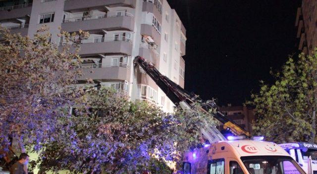 Yan yatan binada arama kurtarma çalışmaları devam ediyor