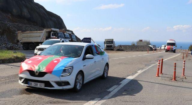 Zonguldak'tan Azerbaycan'a destek konvoyu