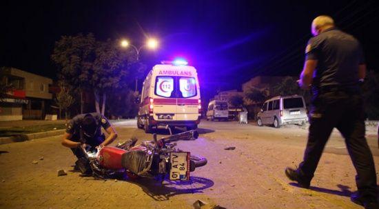 İnşaat molozlarına çarpan sürücü yaralandı