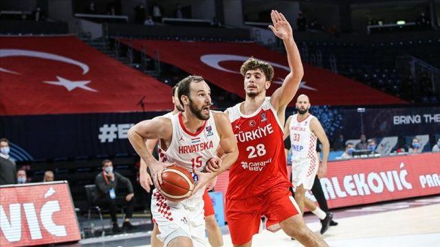 A Milli Erkek Basketbol Takımı Hırvatistan'a 79-62 yenildi