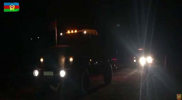Azerbaycan ordusu 28 yıldır işgal altında bulunan Laçın'a girdi