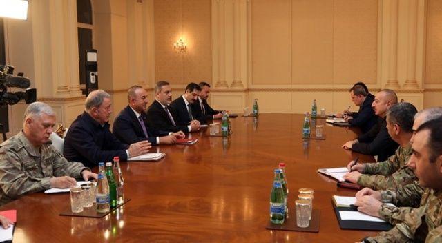 Bakan Akar, Çavuşoğlu ve MİT Başkanı Fidan Azerbaycan'da