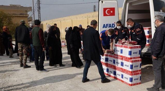 Barış Pınarı'nda insani yardımlar sürüyor