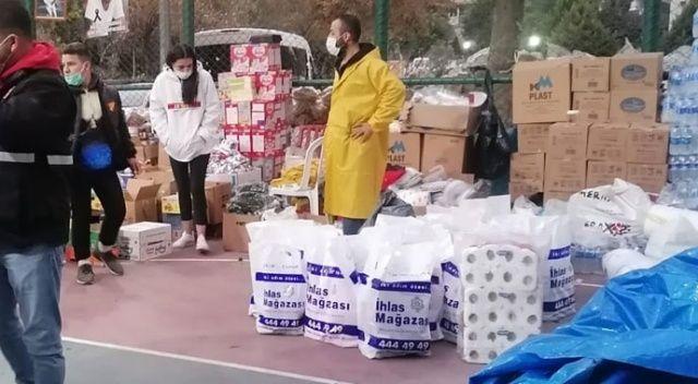 İhlas Pazarlama depremzedelere yardımda bulundu