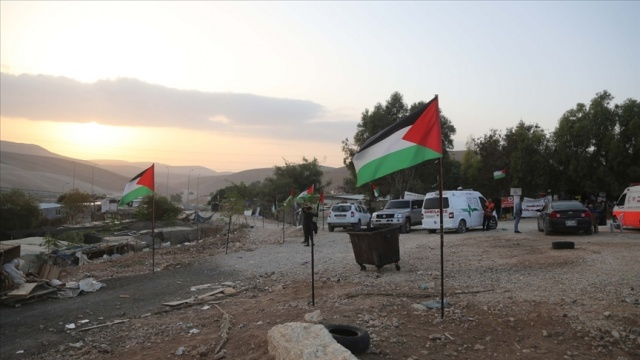 İsrail'in yıkım politikası Han el-Ahmer'de protesto edildi