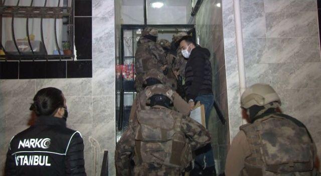 İstanbul'da uyuşturucu tacirlerine eş zamanlı operasyon