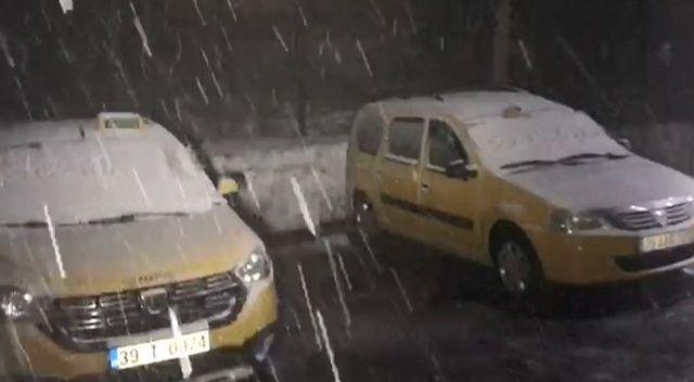 Kırklareli'nin yüksek kesimlerinde kar etkisini göstermeye başladı