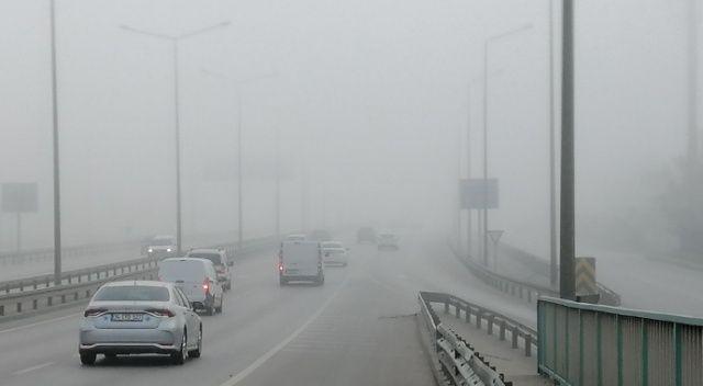 Kocaeli'nde yoğun sis etkili oluyor