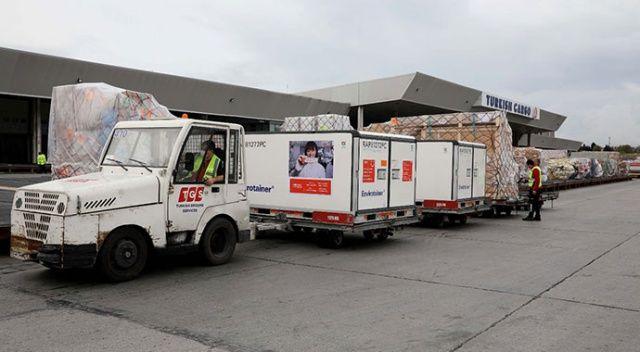 Koronavirüs aşılarını Turkish Cargo taşıyor