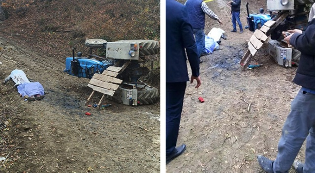 Mantar toplamaya gittikleri traktör devrildi: 2 ölü, 1 yaralı