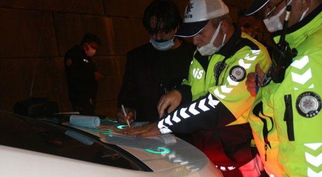 Maske takmayan sürücüye 900 lira ceza