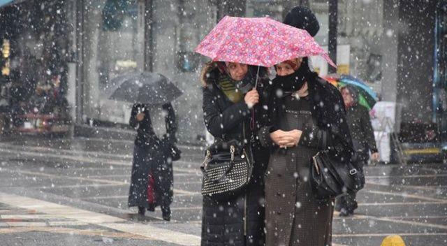 Meteorolojiden sağanak ve karla karışık yağmur uyarısı