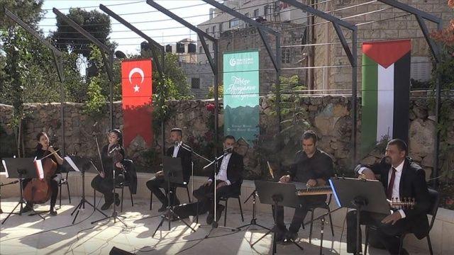Ramallah'ta Türkiye-Filistin dostluk konseri düzenlendi