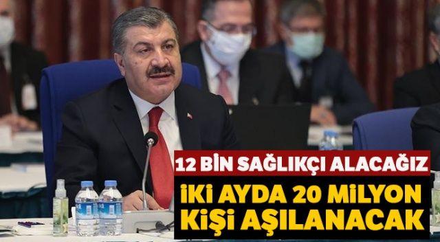 Sağlık Bakanı Koca: 12 bin sağlıkçı alacağız