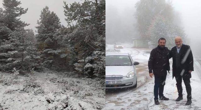 Sahil bölgesinde kar yağışı etkili oluyor
