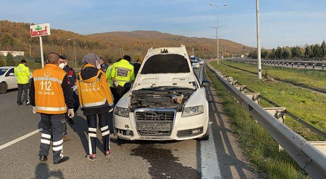 TEM otoyolunda feci kaza 1 ölü, 2 yaralı