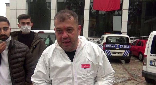 Vakaya giden ambulans şoförünü darp ettiler