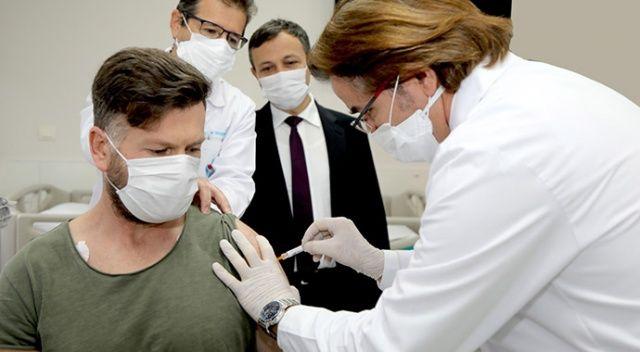 Yerli aşı adayının 2'inci dozu yapıldı