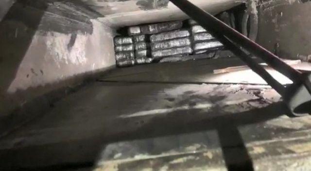 Yolcu otobüsündeki gizli bölmeden 87 kilo 150 gram eroin çıktı