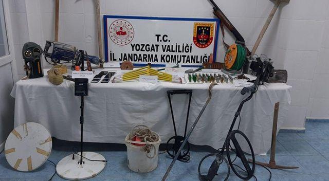Yozgat'ta evin içinde kaçak kazı yapan 5 kişi gözaltına alındı