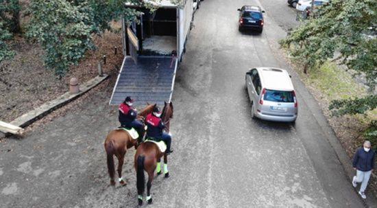 Atlı polislerden Belgrad Ormanı'nda koronavirüs denetimi