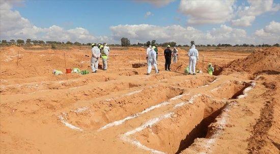 Libya'nın Terhune kentinde yeni bir toplu mezara ulaşıldı