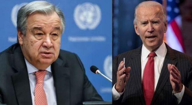 Biden ile Guterres arasında telefon görüşmesi