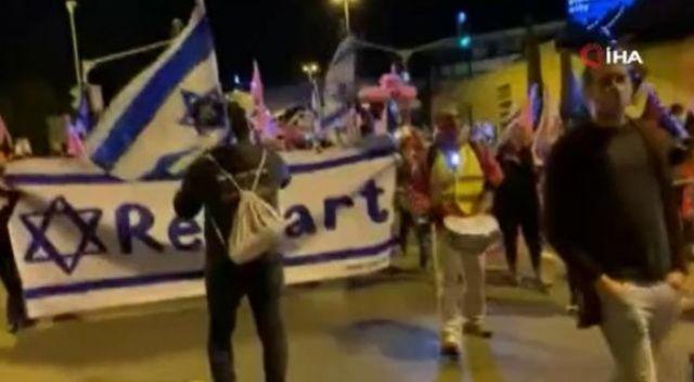 İsrail Başbakanı Netanyahu Kudüs'te protesto edildi