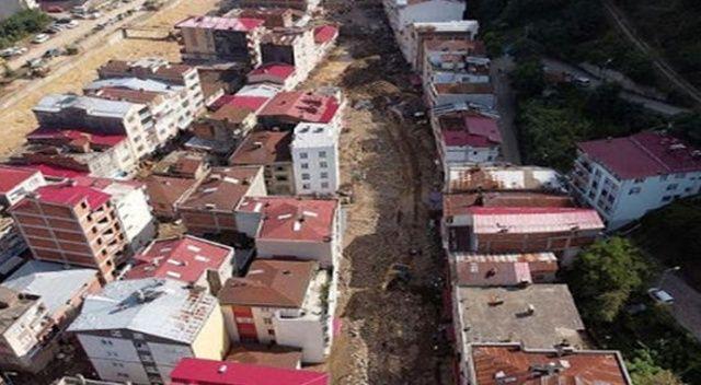 Sel felaketinden etkilenen Doğankent'te riskli binalar yıkılıyor