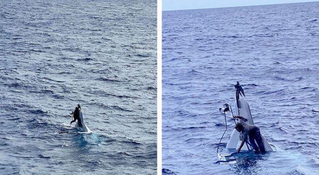 Teknesi alabora olan Amerikalı denizci, 2 gün sonra pruvaya yapışmış vaziyette bulundu