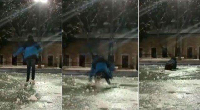 'Donmuş süs havuzu üzerinde yürürüm' iddiası hüsranla bitti