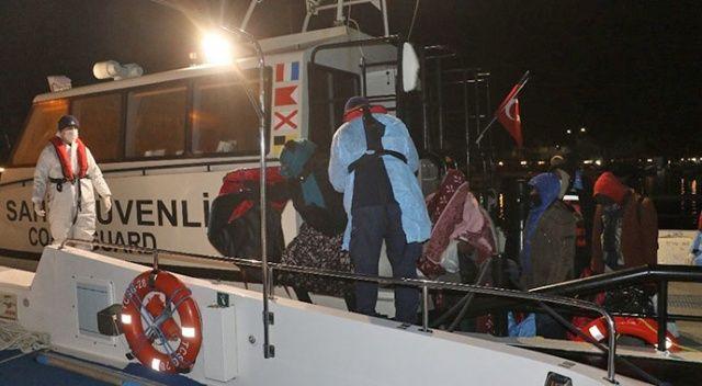 Ayvalık açıklarında 38 sığınmacı kurtarıldı