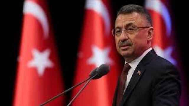 """Cumhurbaşkanı Yardımcısı Oktay'dan deprem meydana gelen KKTC'ye """"geçmiş olsun"""" mesajı"""
