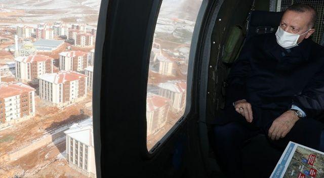 Erdoğan Elazığ'a geldi, deprem konutlarını teslim törenine katılması bekleniyor