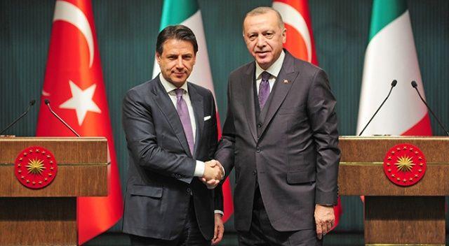 Erdoğan, İtalya Başbakanı ile Doğu Akdeniz'i görüştü