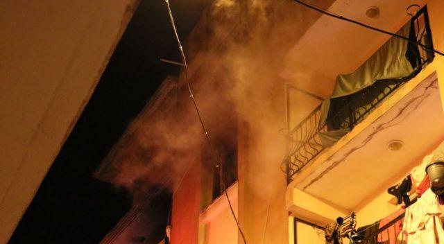 İzmir'de 4 kişinin yaşadığı evde korkutan yangın