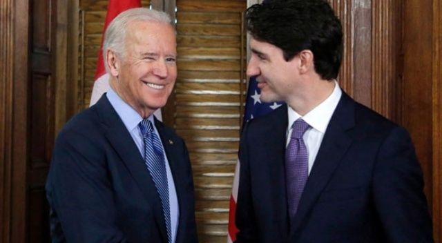 Joe Biden'ın görüştüğü ilk yabancı lider Trudeau oldu